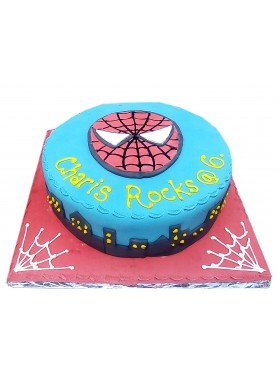 Spiderman Cartoon Character Cake